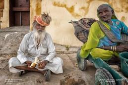 Ancianos en Jaisalmer