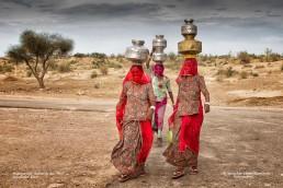 Mujeres en el desierto del Thar, India