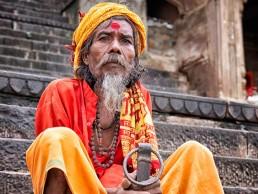 Peregrino en Varanasi