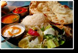 Platos de comida thali